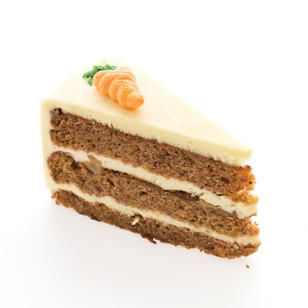 Delicious slice of carrot cake