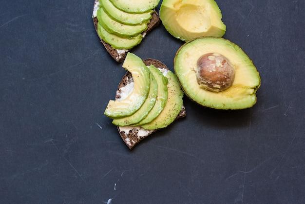 Delicious sliced avocado