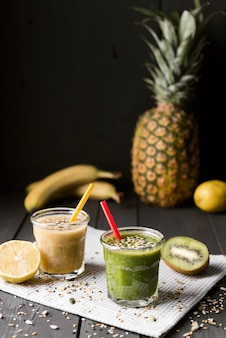 Delicious smoothie with pineapple