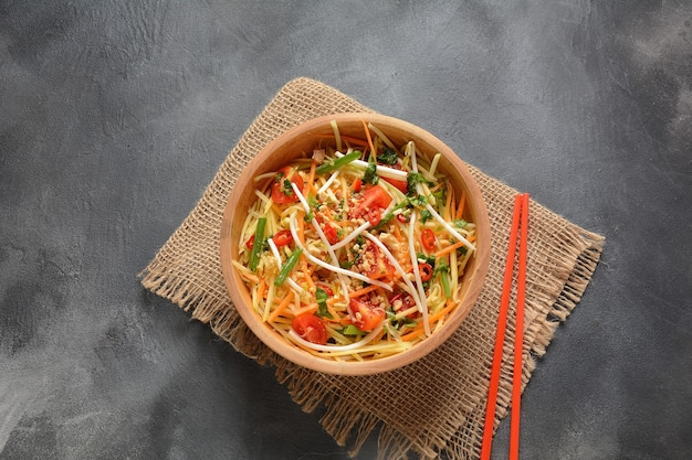おいしいソムタム-タイのグリーンパパイヤサラダ
