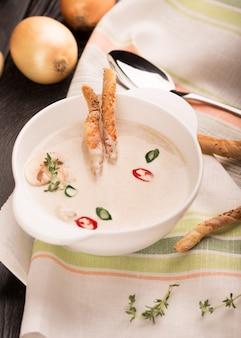 Delicious soup puree