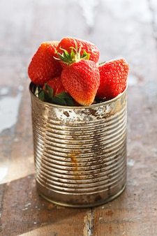 Delicious strawberries on the table