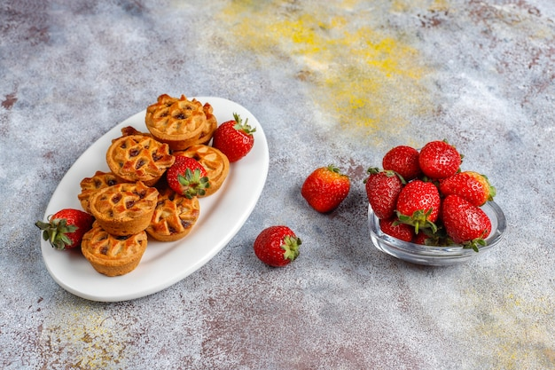 Delicious strawberry mini tarts.