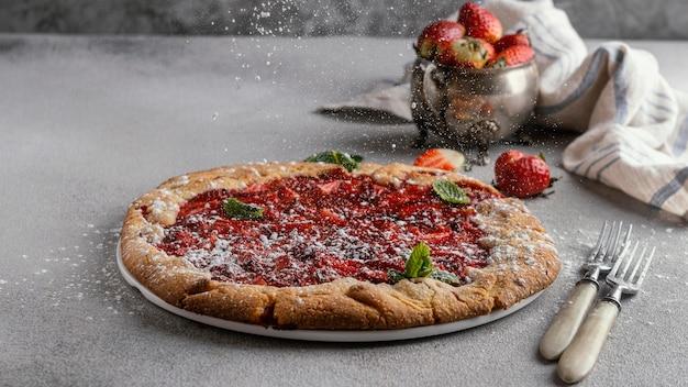 Delicious strawberry pie