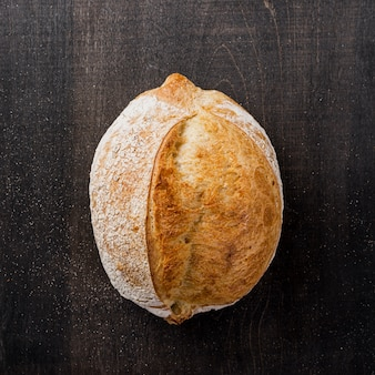 Delicious tasteful bread flat lay