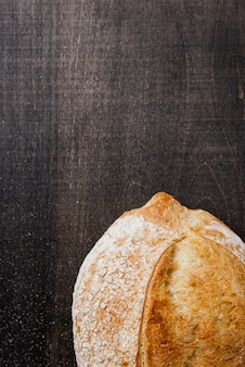 Delicious tasteful bread top view