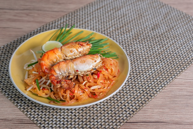 Delicious thai dish with seafood