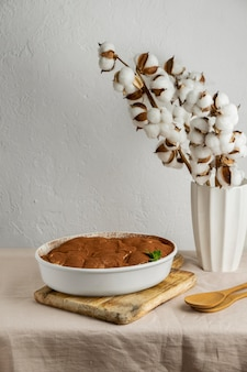 Delicious traditional dessert arrangement