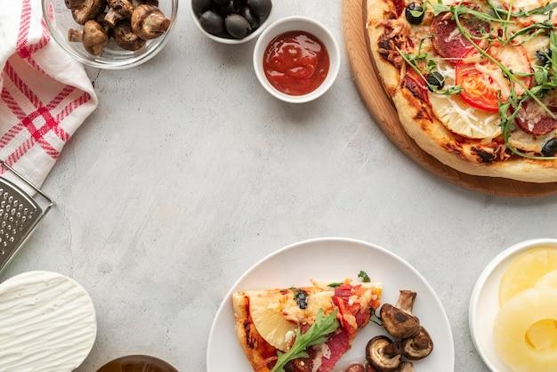 Вкусная традиционная композиция для пиццы