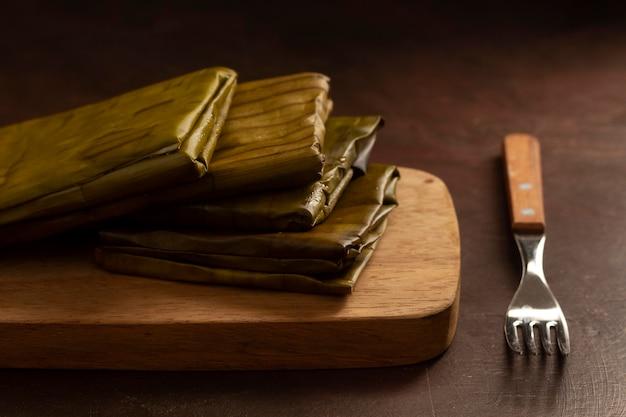 おいしい伝統的なタマーレの品揃え