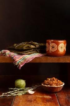 おいしい伝統的なタマーレの組成