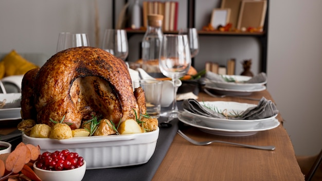 Delicious turkey prepared forthanksgiving day event