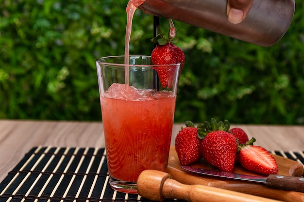 Delicious typical brazilian maracuja drink