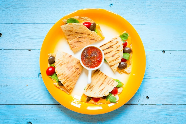 Delicious veggie quesadillas