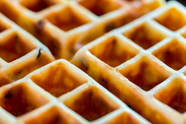 Delicious waffle with sweet taste.