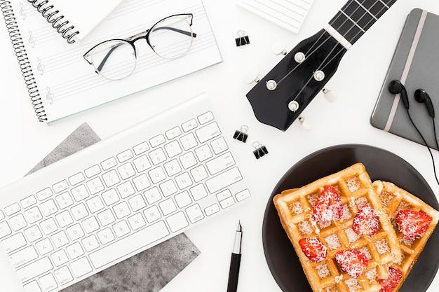 Deliziosi waffle per colazione