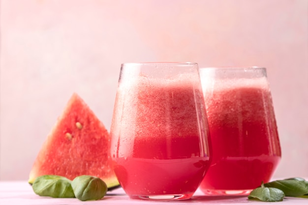 Delicious watermelon detox drink