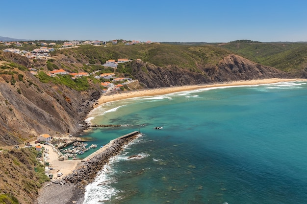 Delightful beach of arrifana, for surfing in portugal. algarve