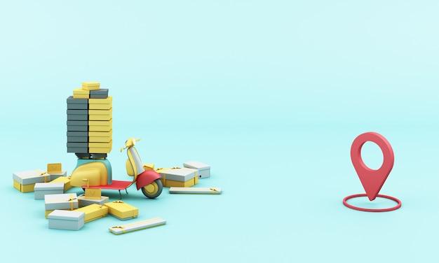 Доставка желтым самокатом с мобильным приложением
