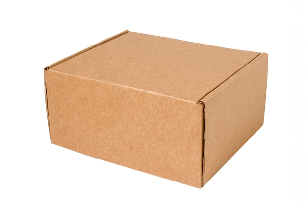 Delivery. cardboard box isolated on white.