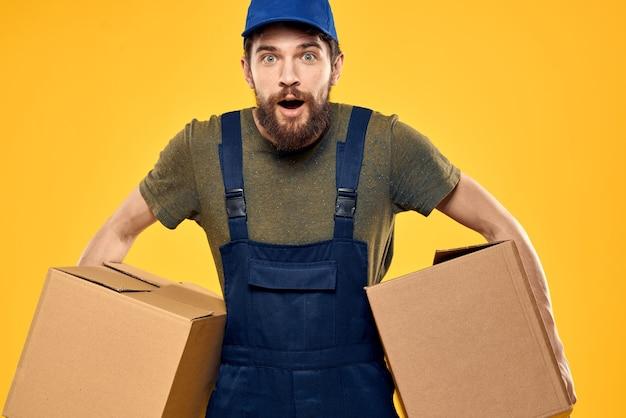 Delivery man posing in his uniform