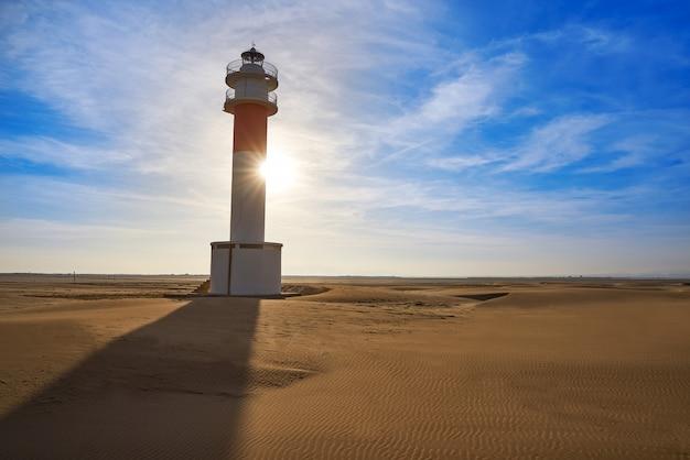 Delta del ebro lighthouse punta del fangar