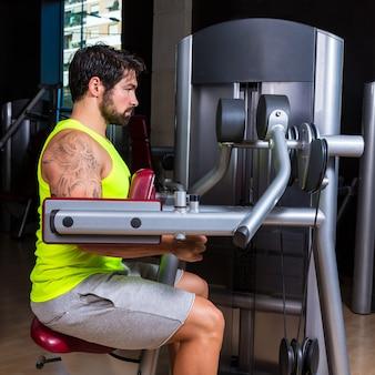 Deltoids fly machine man for shoulders workout