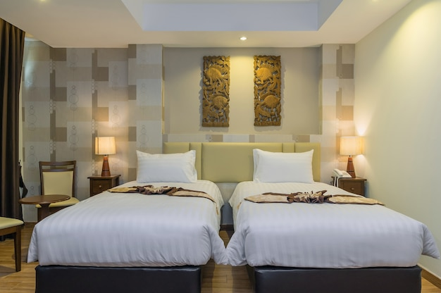 The deluxe pool side room type of the suvarnabhumi ville hotel