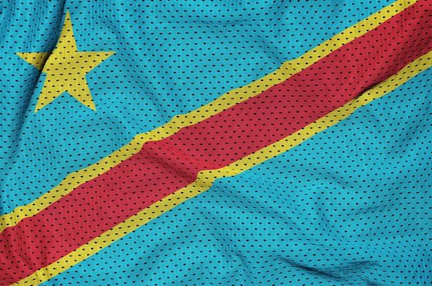 Флаг демократической республики конго напечатан на полиэстере