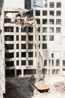 Demolition site of a building