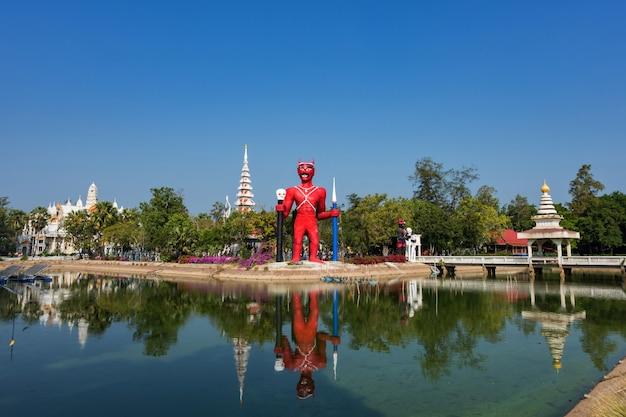 Demon statue at wat phai rong wua, suphanburi