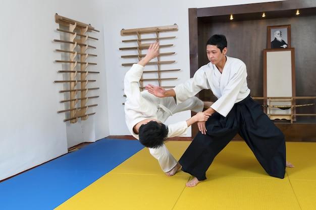 Демонстрация боевого искусства айкидо.