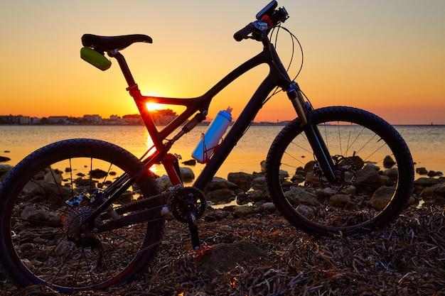 Denia beach las rotas with bicycle bike