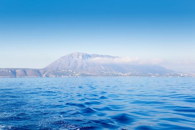 Denia javea mongo mountain from sea