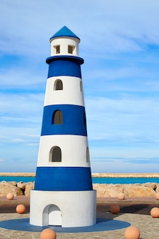 Denia lighthouse monument in mediterranean