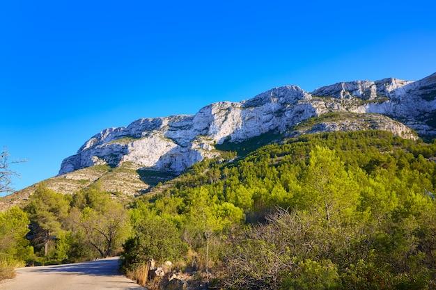 Denia track in montgo mountain at alicante