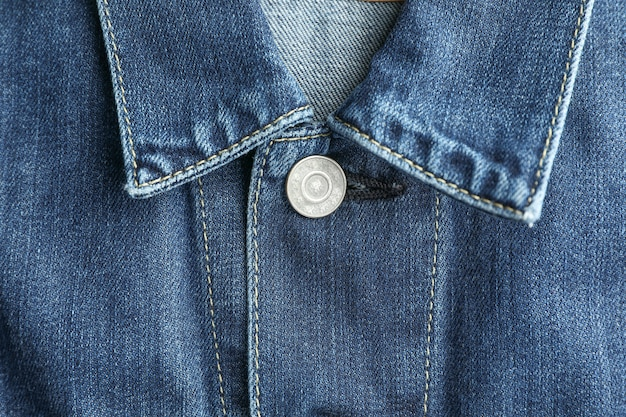 Denim jacket collar as background, place for text