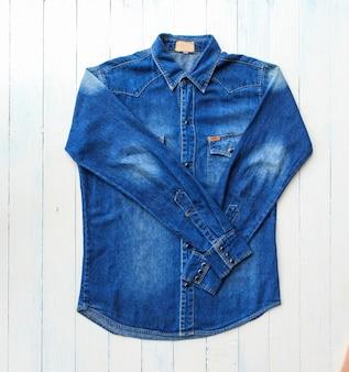 Denim shirts jean Premium Photo