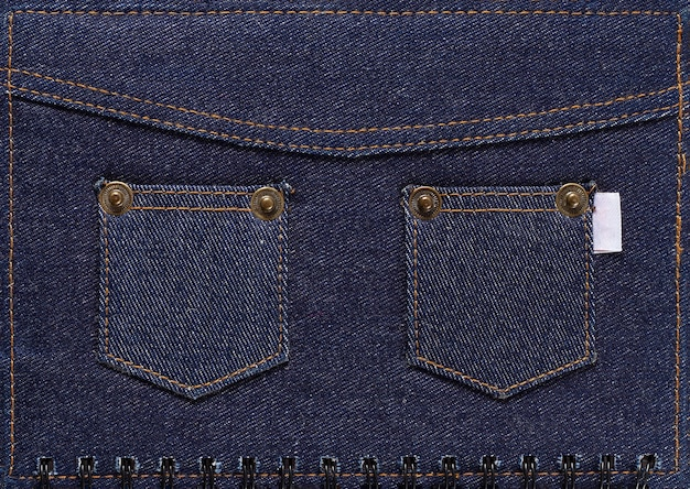 Denim with pockets, background, dark blue color