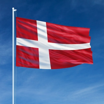 Denmark flag flying
