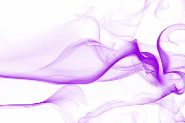Dense smoke, purple smoke abstract on white background