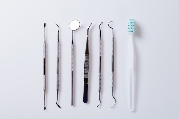 Dental concept healthy equipment tools dental care