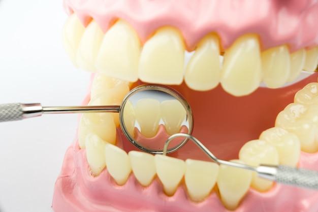 Dental equipment for dental care concept
