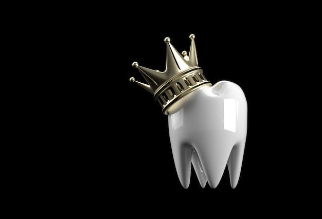 小臼歯の3dレンダリングのデンタルキングモデル。