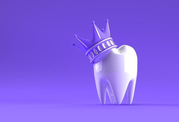 Dental king model of premolar tooth 3d rendering.