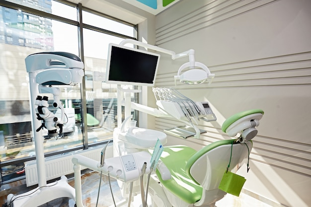 Dental office without people with appliances