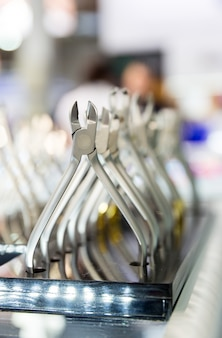 Dental tooth extraction equipment closeup