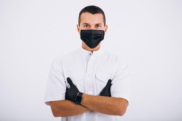Стоматолог в сержоне носят изолированный