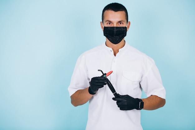 Dentist in sergeon wear isolated