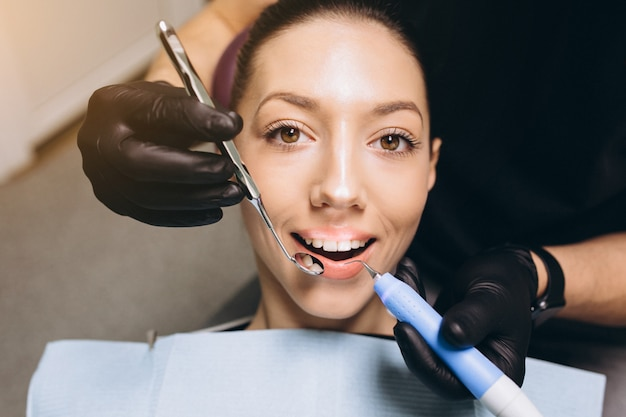 Dentistry care woman visit
